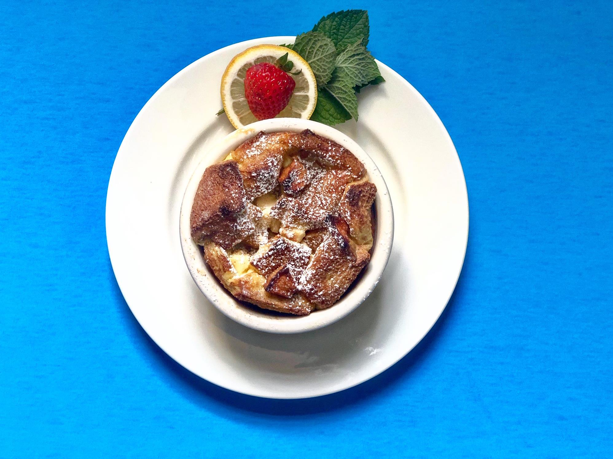 Apple French Toast Souffle at Felt Manor